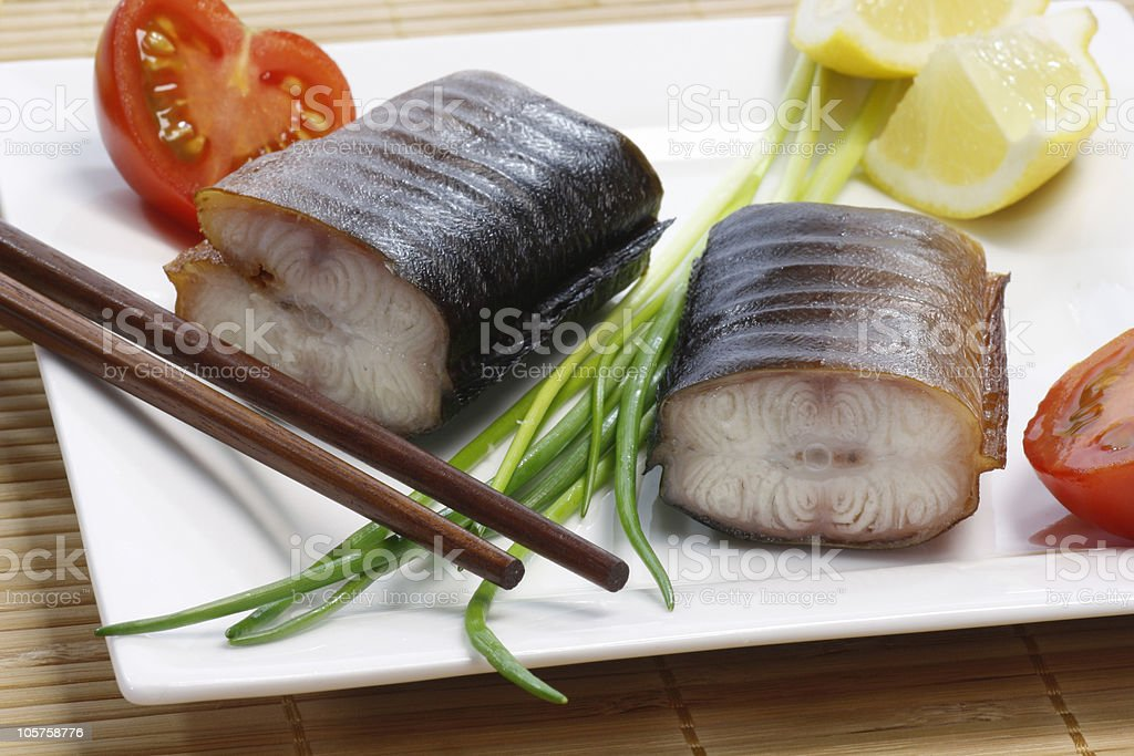 Eel Appetizer royalty-free stock photo