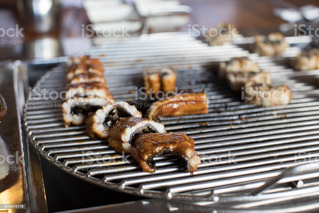 Eel Barbecue - Korean food stock photo