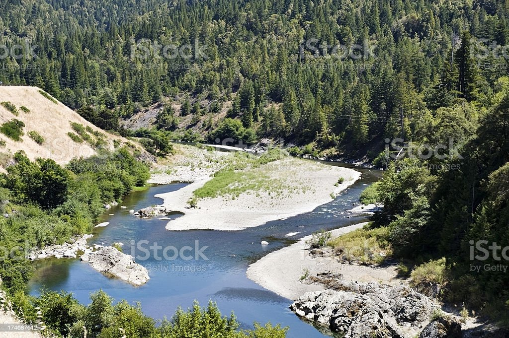 Eel River Natural Landscape royalty-free stock photo