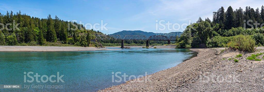 Eel River Panorama stock photo