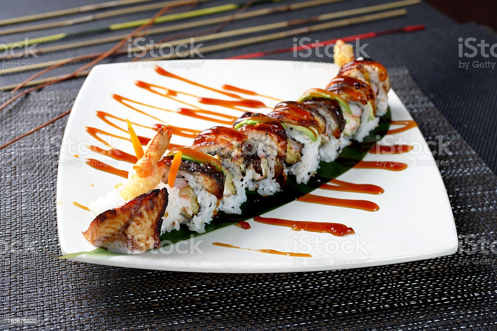 Eel Roll royalty-free stock photo