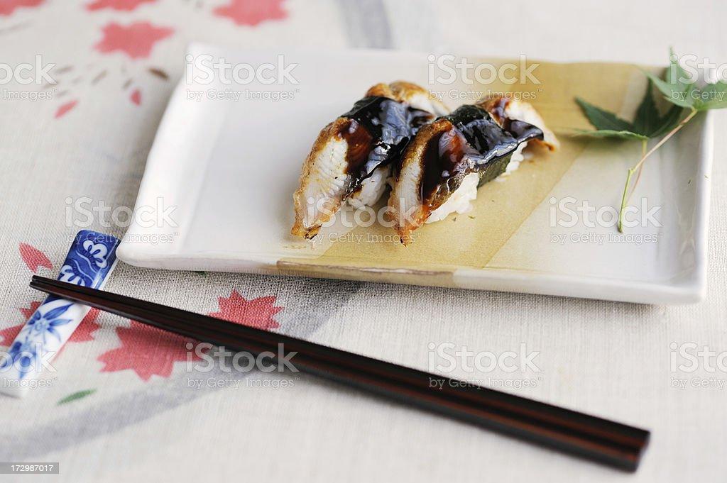 Eel sushi royalty-free stock photo