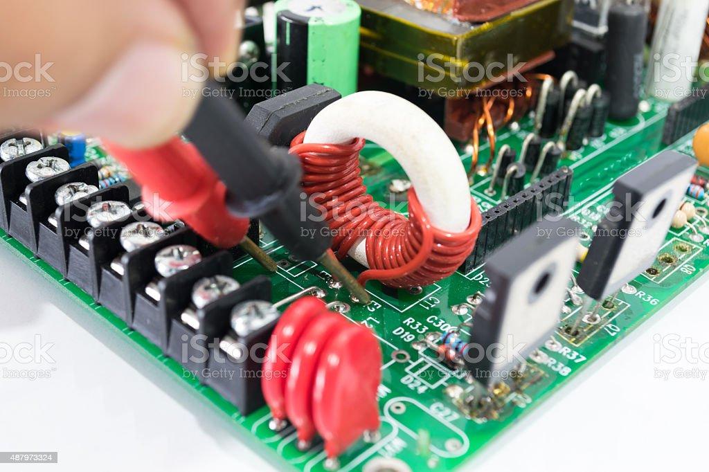 Eelectronics board stock photo