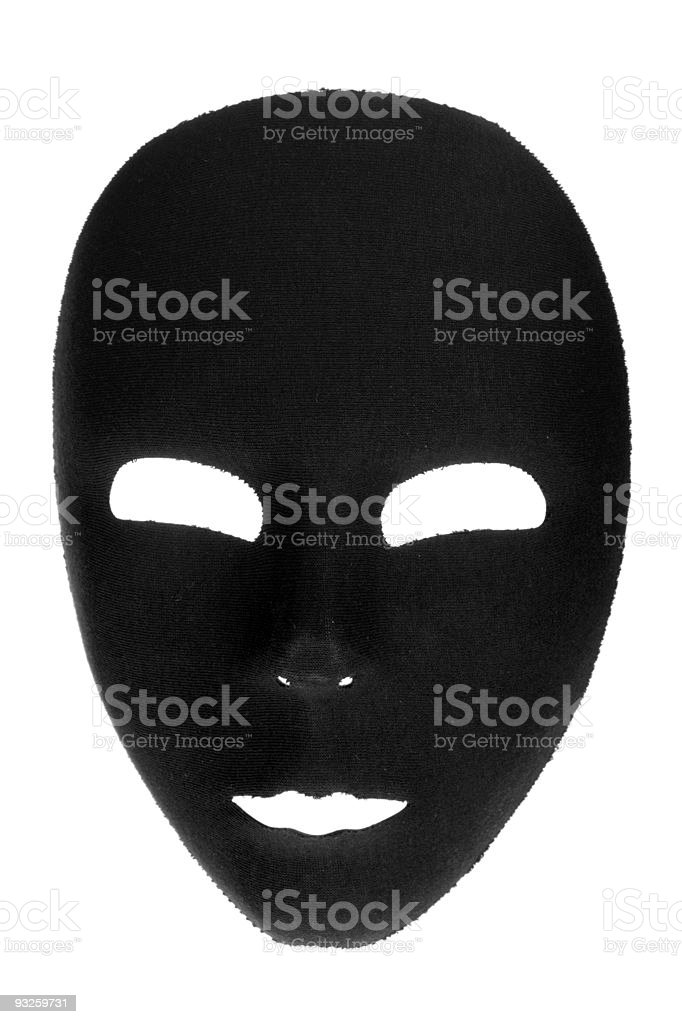 Eerie Black Face Mask royalty-free stock photo