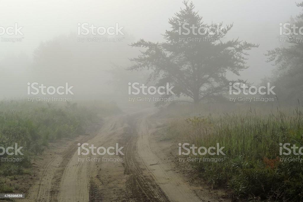 Eerie road stock photo