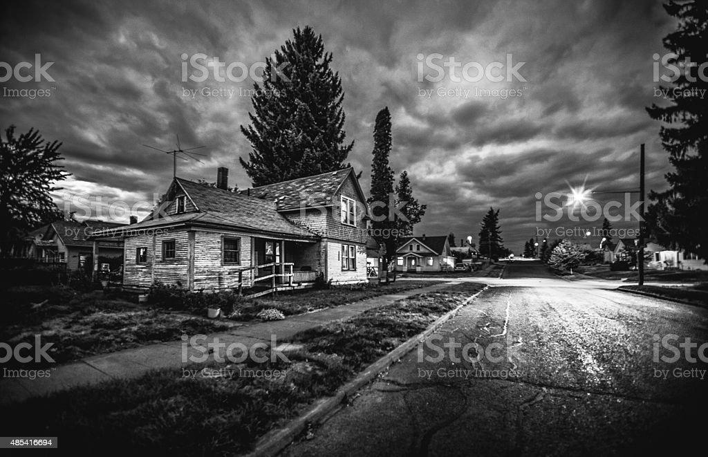 Eerie street stock photo