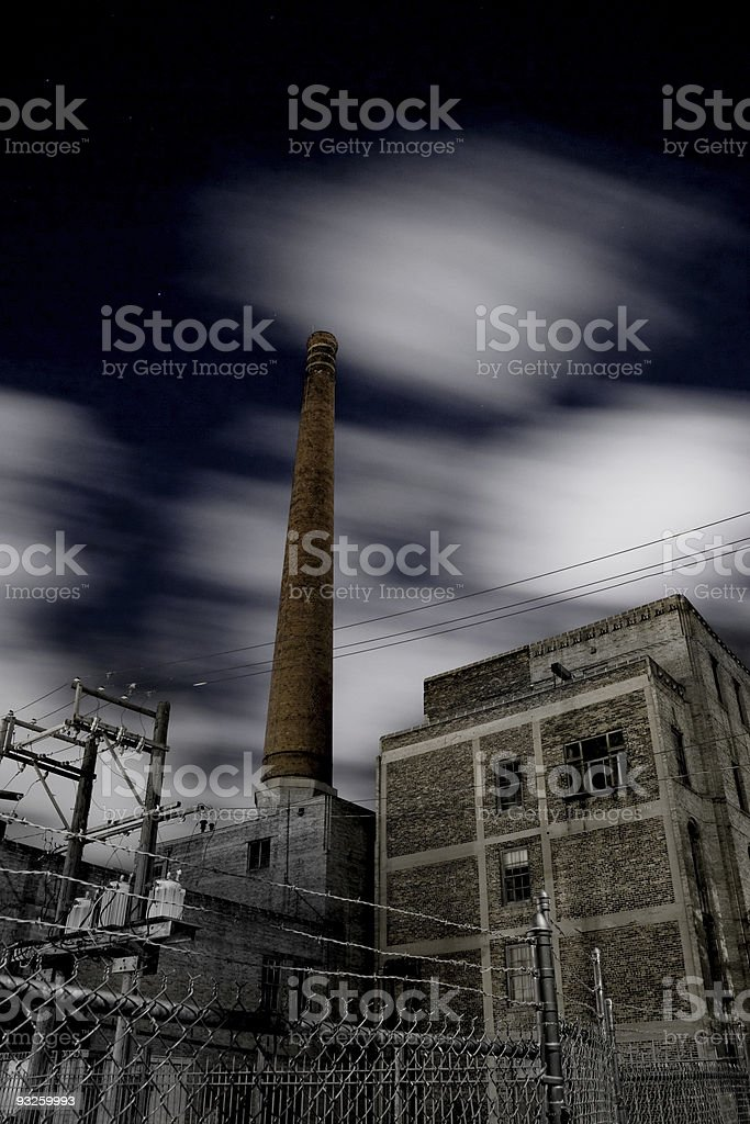 Eerie Urban Night royalty-free stock photo