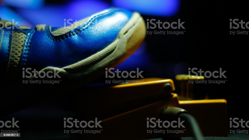 effect electric guitar stock photo