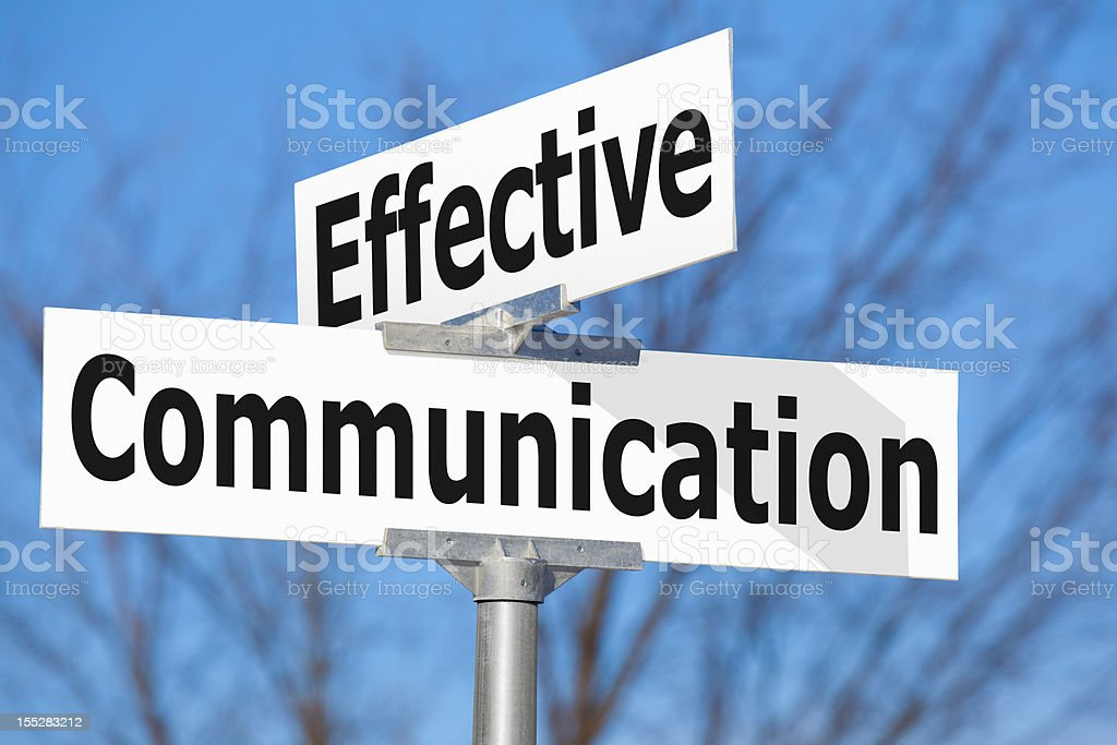 Effective Communication Street Sign royalty-free stock photo