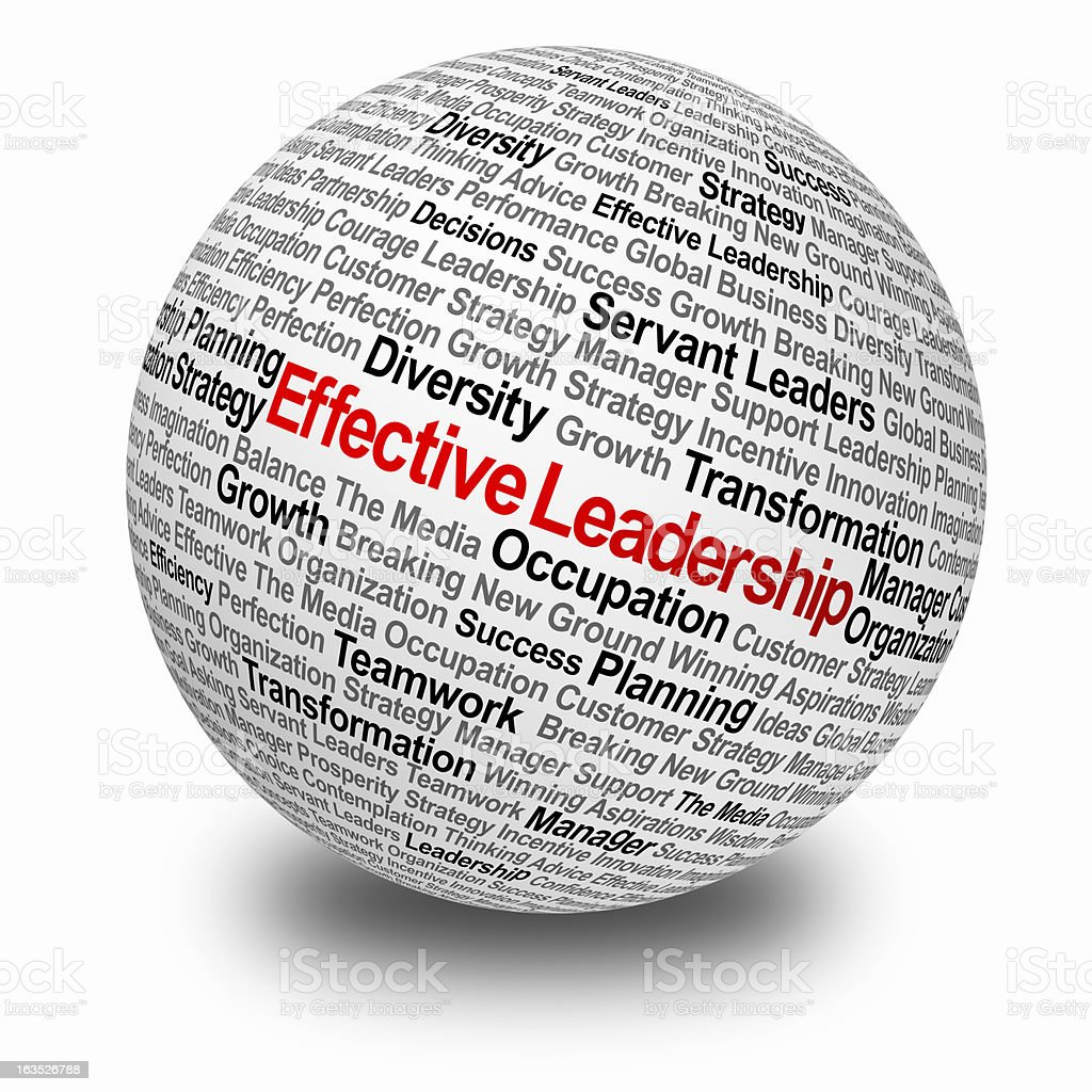 Effective leadership stock photo