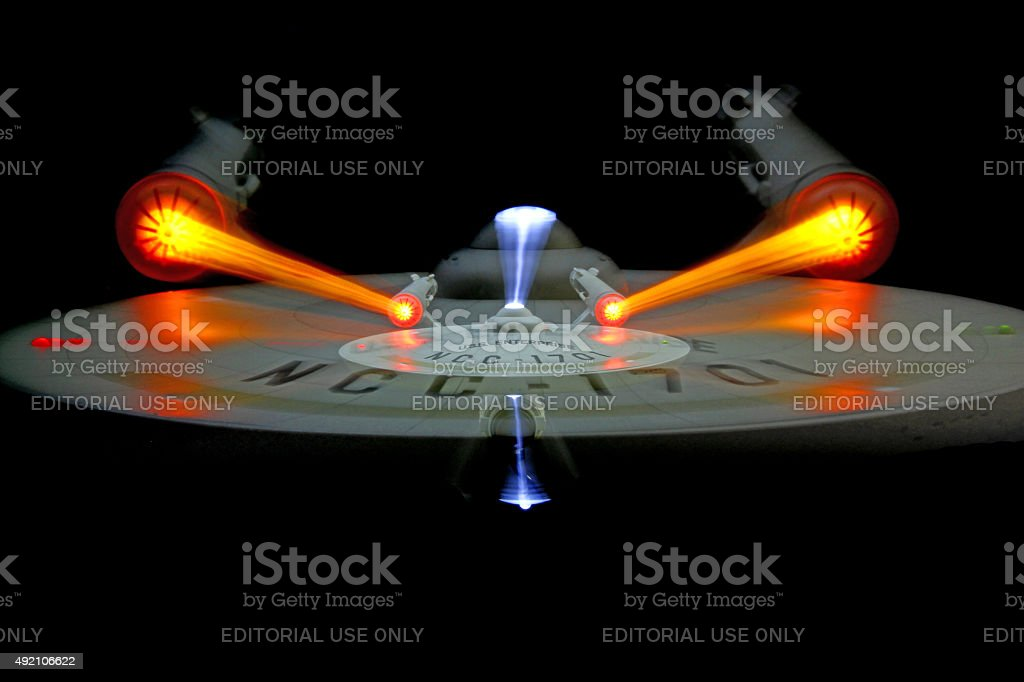 Effects of Jumping to Warp stock photo