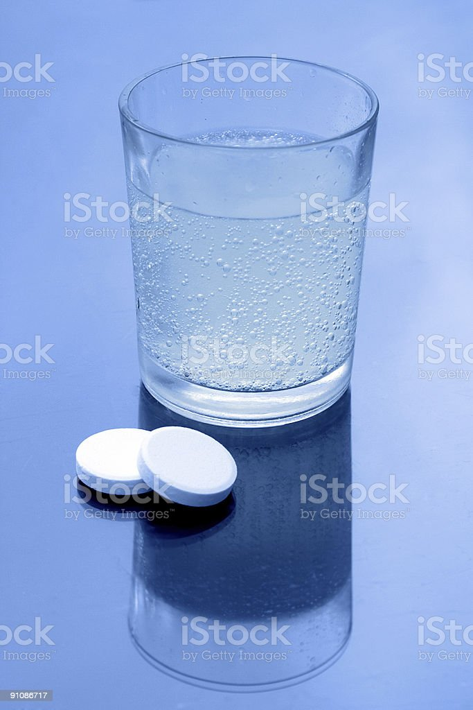 Effervescent tablets royalty-free stock photo