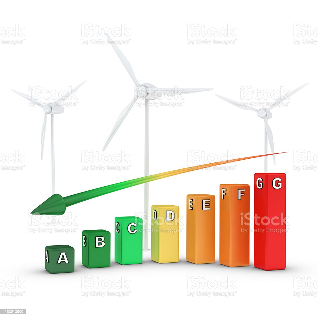 Efficiency and Wind Power stock photo