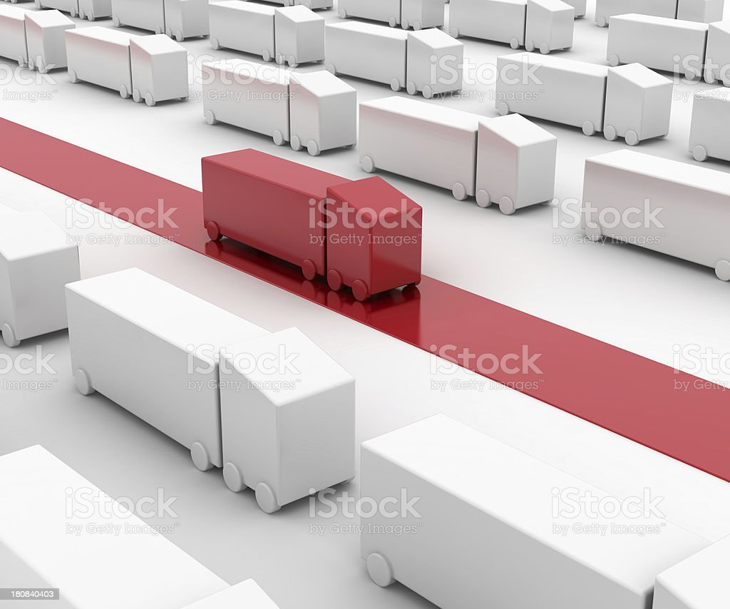 Efficient Delivery royalty-free stock photo
