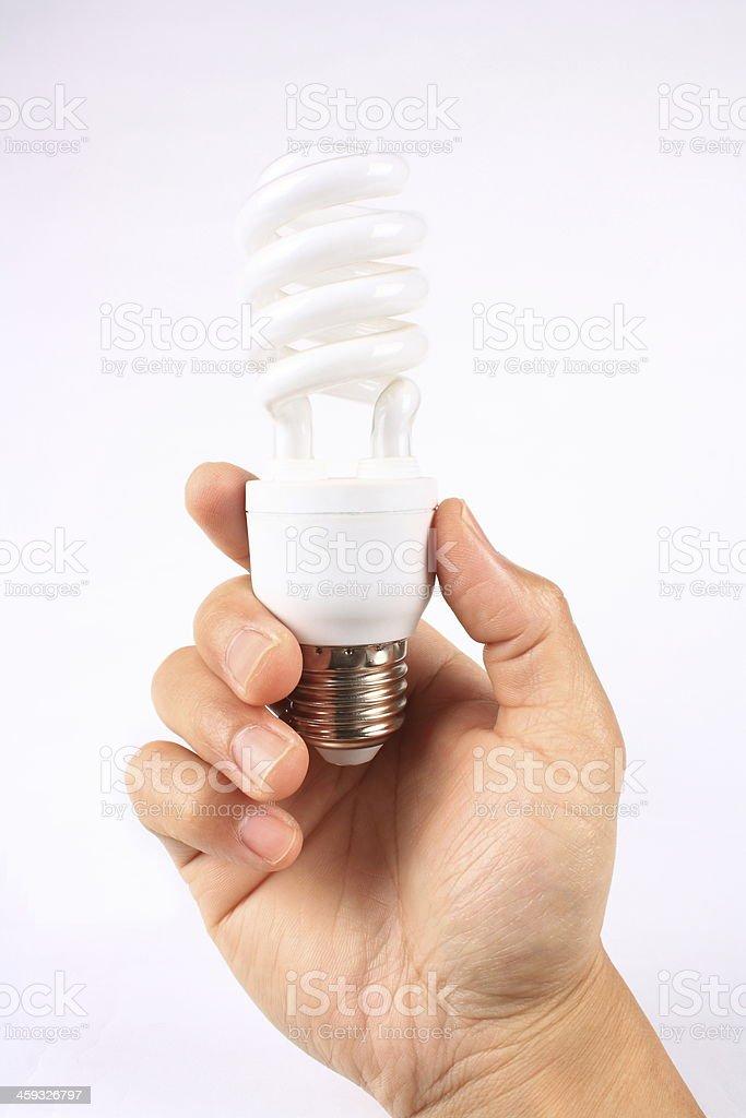 Efficient lightbulb stock photo
