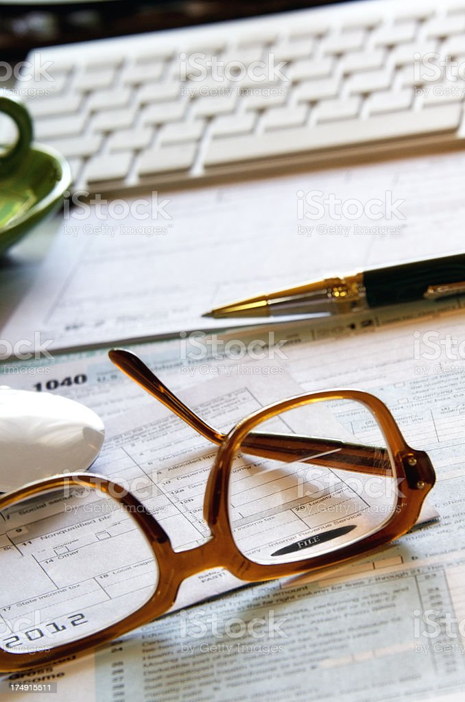 eFile tax papers stock photo