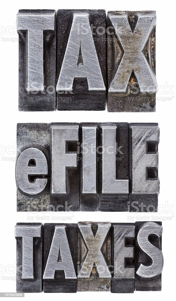 e-file taxes - tax concept royalty-free stock photo