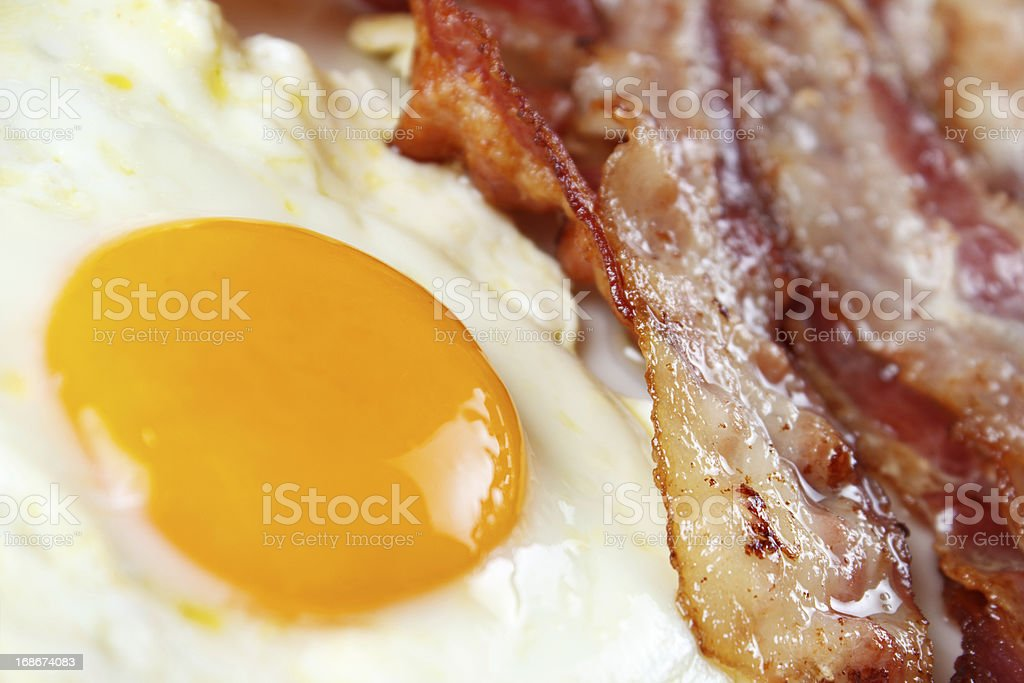Egg and bacon royalty-free stock photo