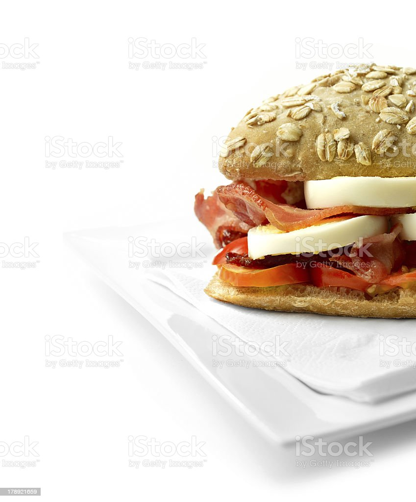 Egg and bacon roll 3 royalty-free stock photo