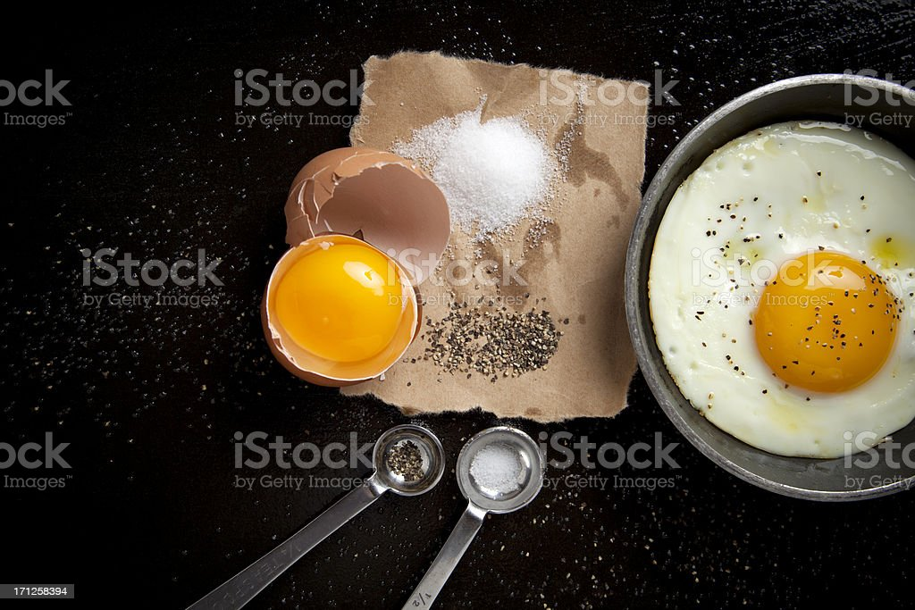 Egg and black pepper royalty-free stock photo