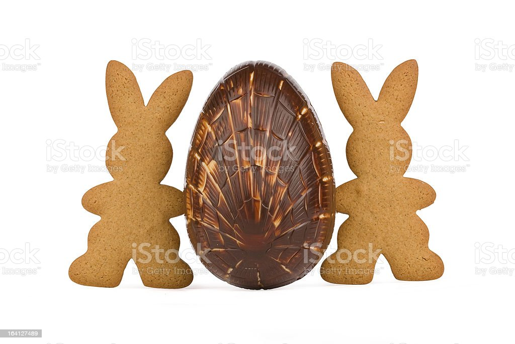 Egg and bunnies royalty-free stock photo