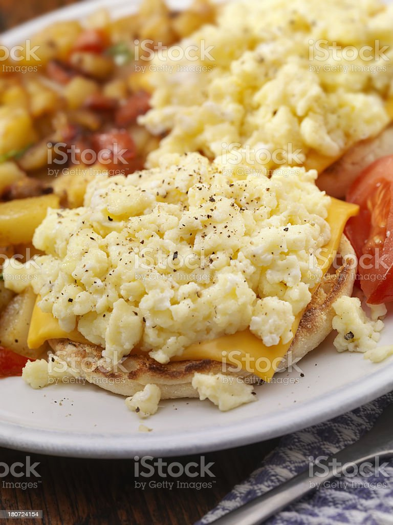 Egg and Cheese Breakfast Sandwich royalty-free stock photo