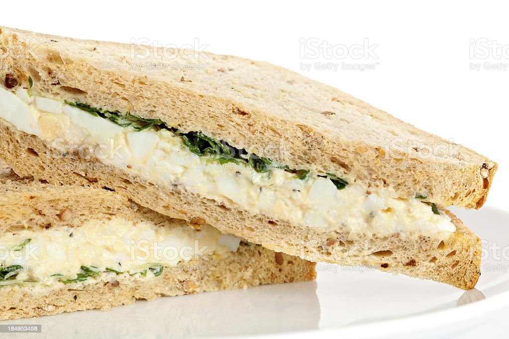 Egg and Cress Sandwich royalty-free stock photo