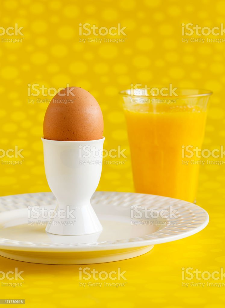 Egg and Juice stock photo