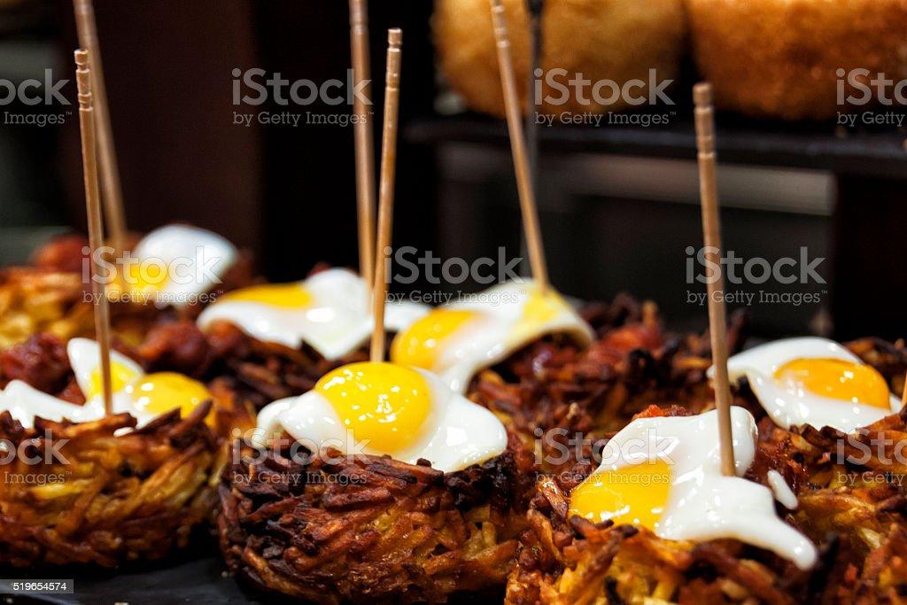 egg and potato stock photo