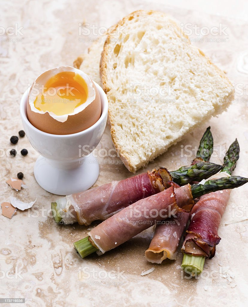 egg and soldiers royalty-free stock photo