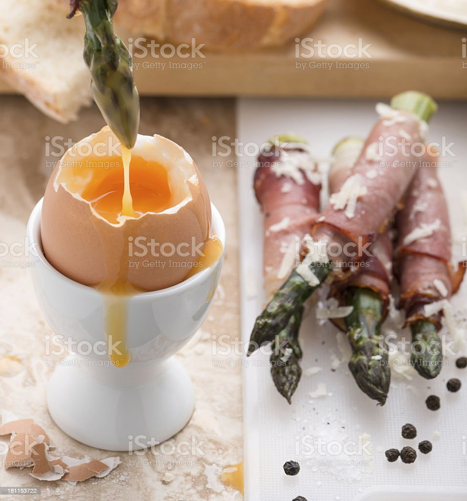 egg and soldiers stock photo