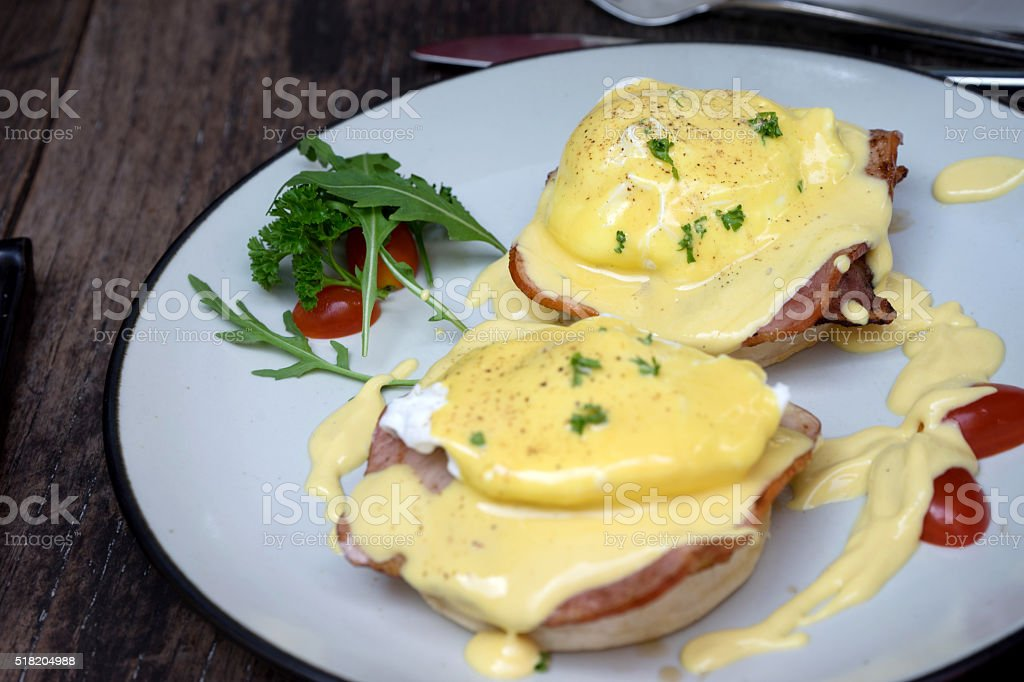 Egg Benedict all day breakfast stock photo