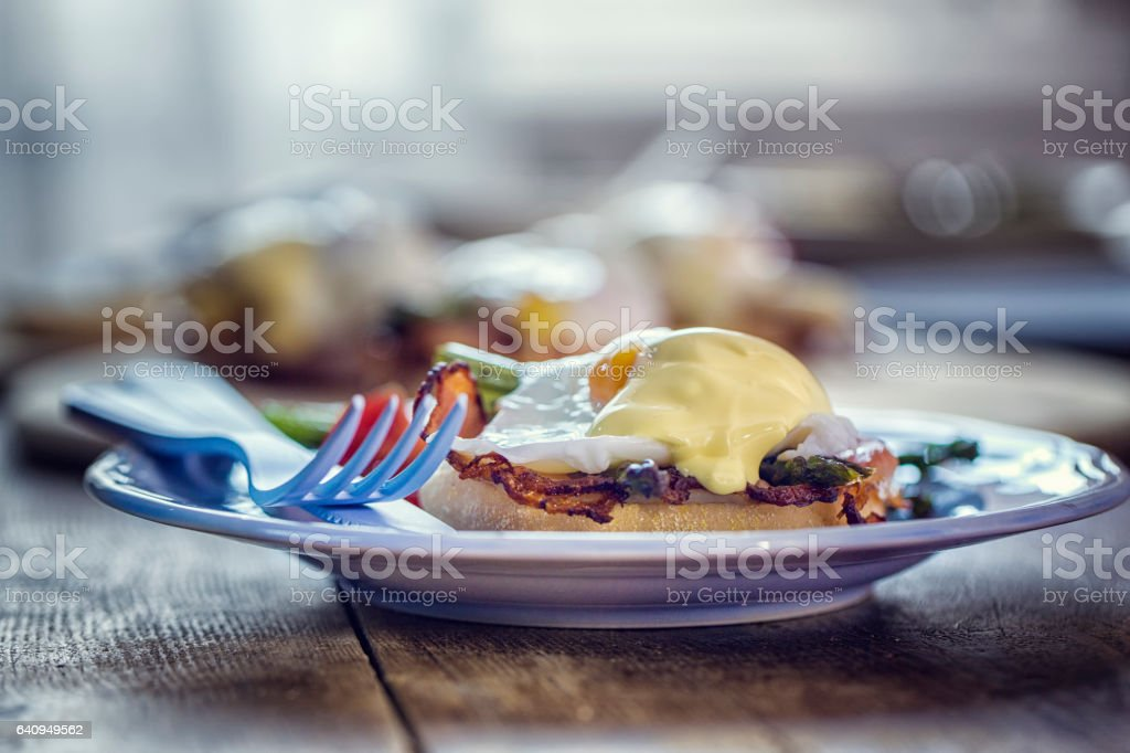 Egg Benedict For Breakfast stock photo