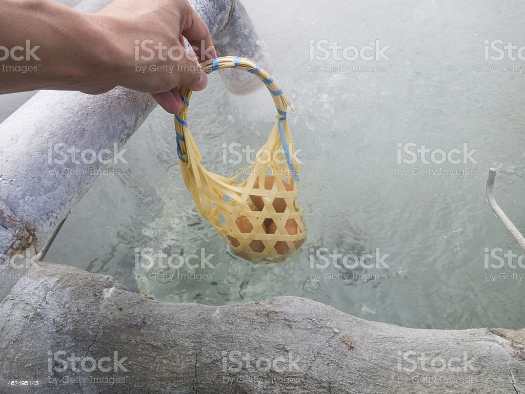 egg boiling royalty-free stock photo