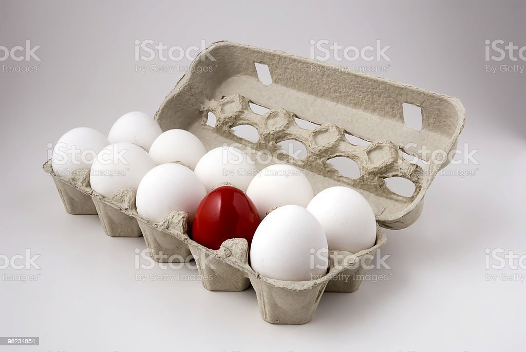 egg box, differ one. royalty-free stock photo