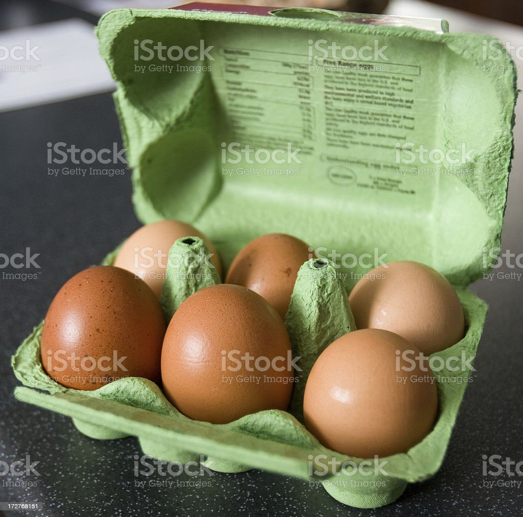 Egg Box (Half Dozen) stock photo