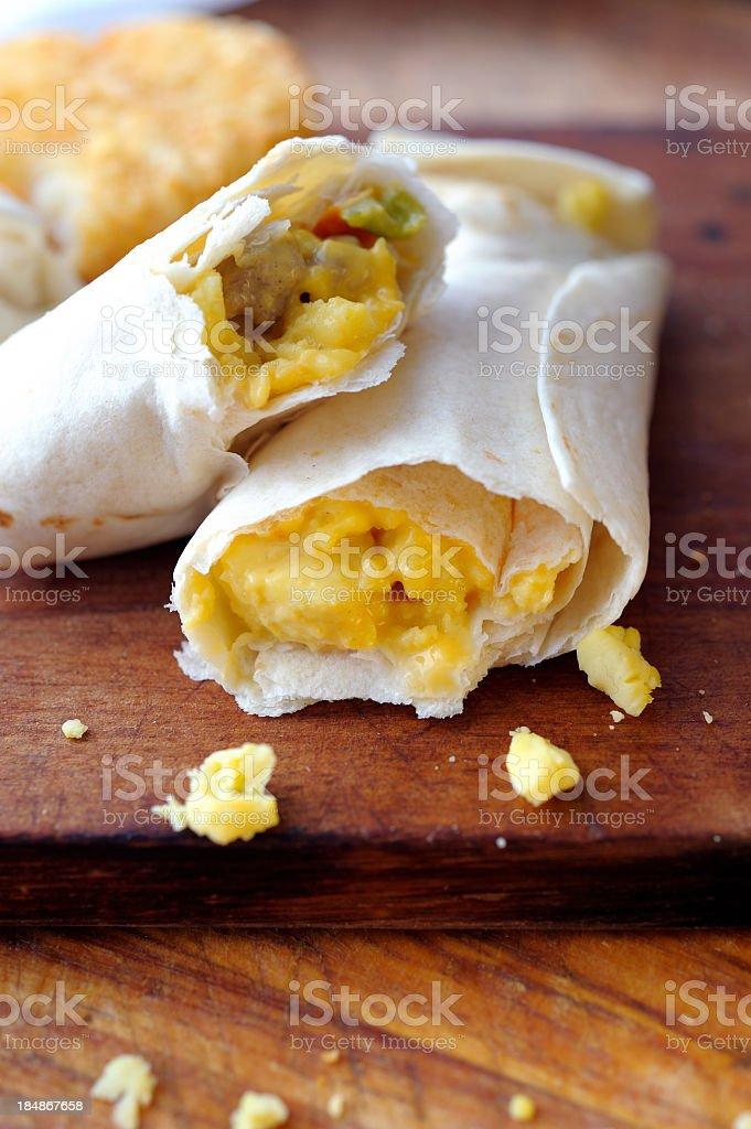 Egg Burrito stock photo