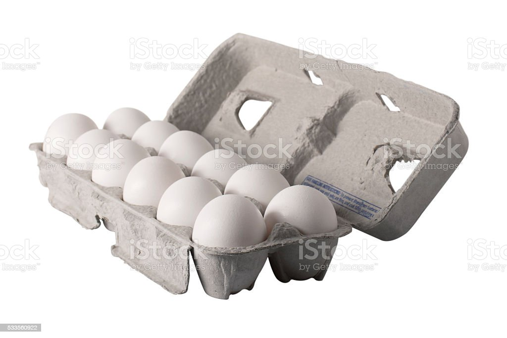 Egg Carton - Angled stock photo
