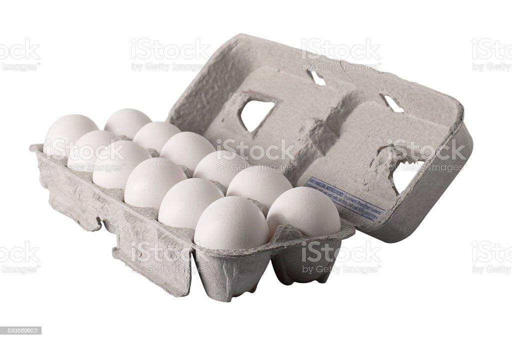 Egg Carton - Angled stock photo