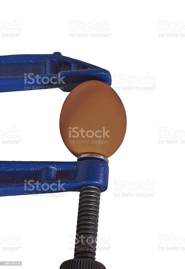 Egg clamped vise for wood royalty-free stock photo