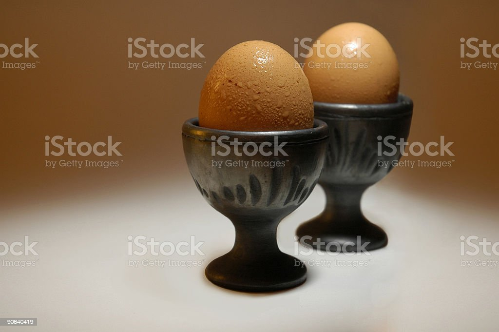 Egg cups in lime light royalty-free stock photo