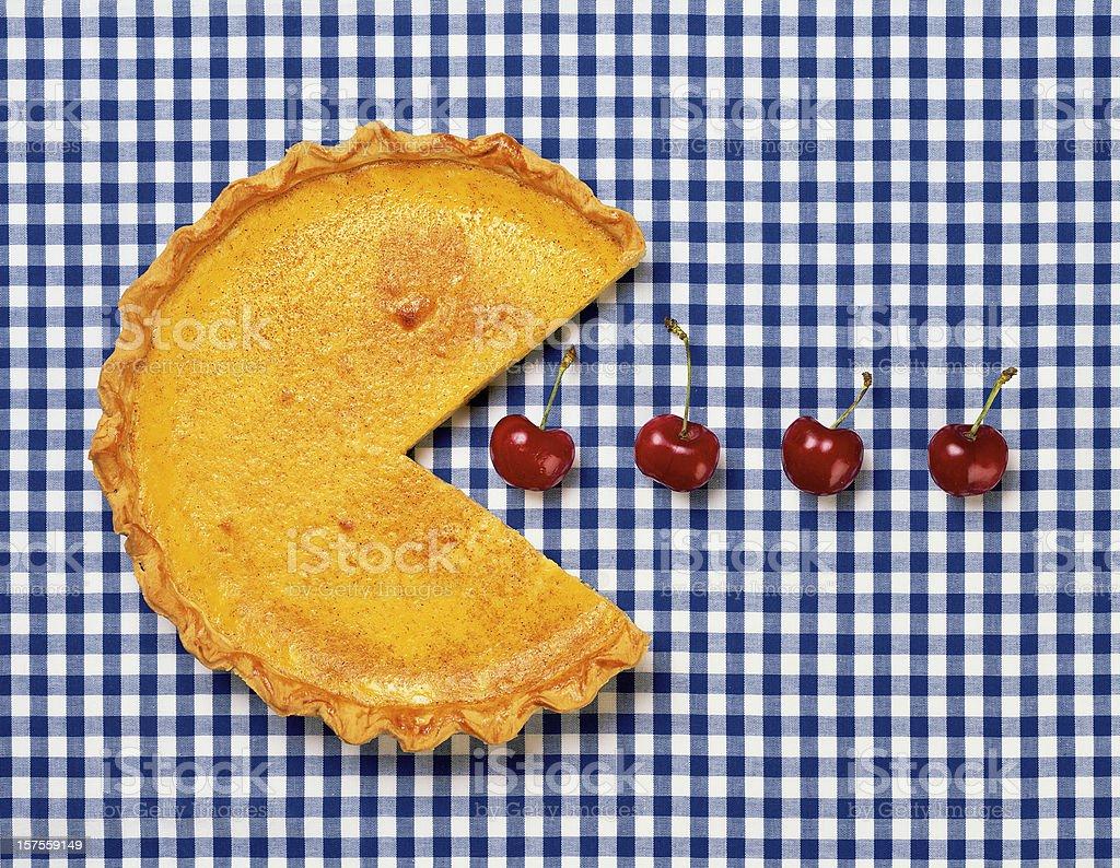 Egg Custard Pie stock photo