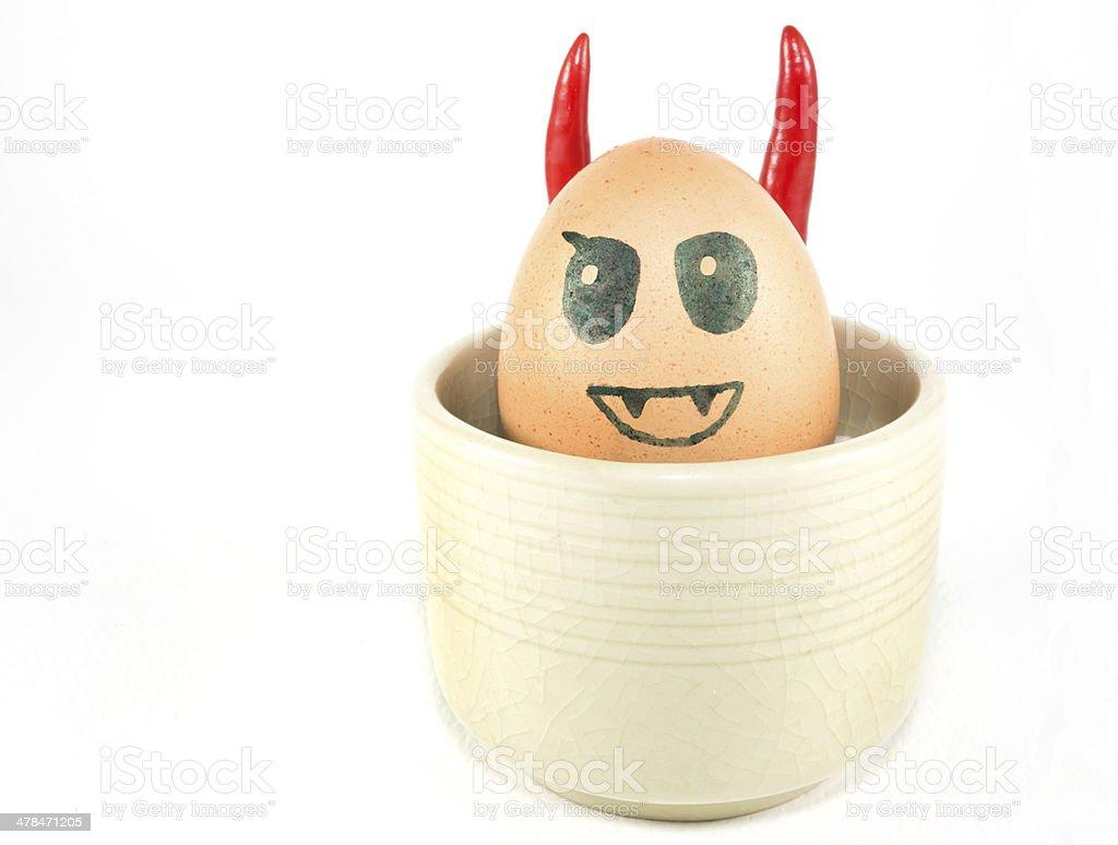 Egg devil stock photo