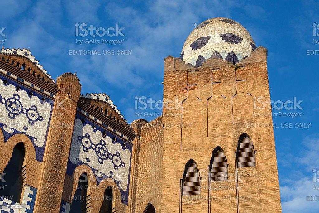 Egg dome of La Monumental royalty-free stock photo