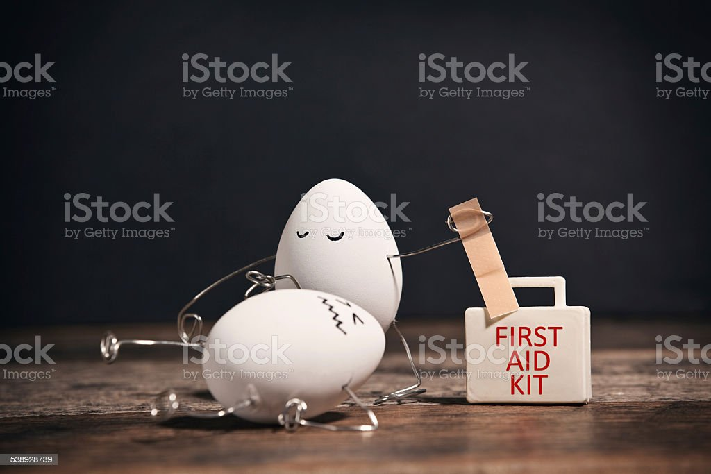 Egg Emergency stock photo