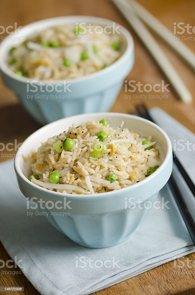Egg fried rice royalty-free stock photo