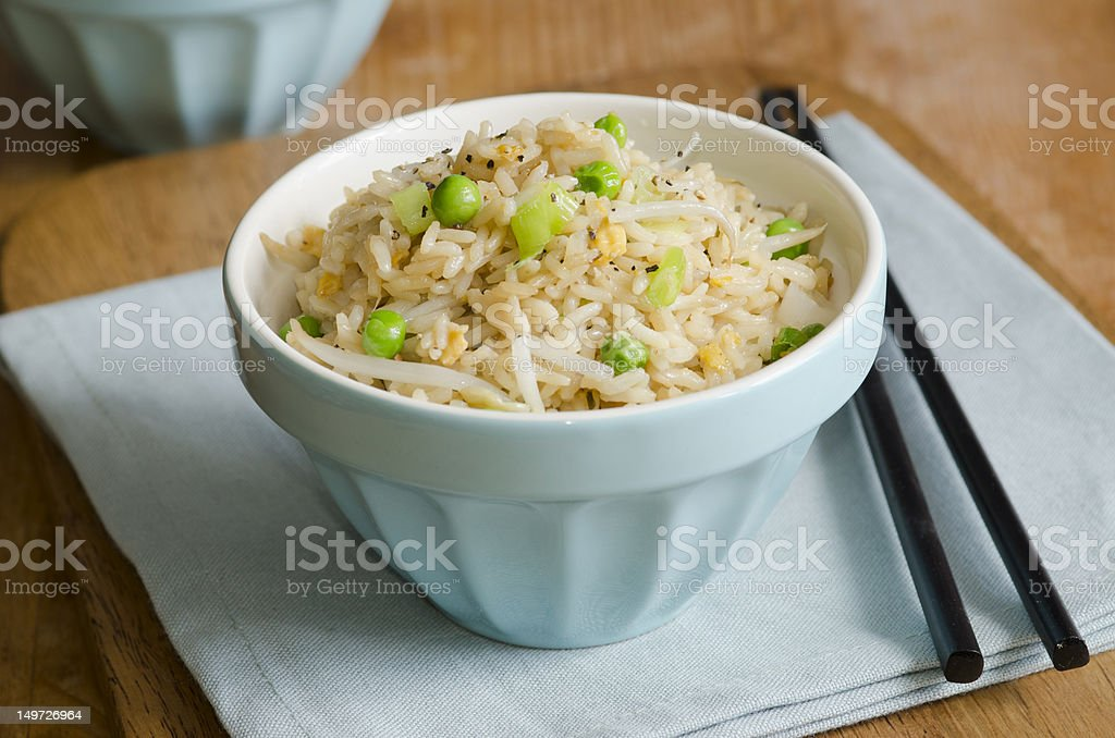 Egg fried rice royalty-free stock photo