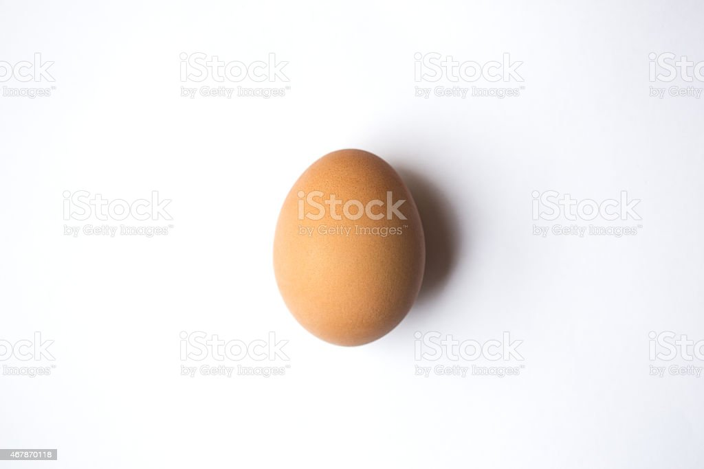 Egg from above stock photo