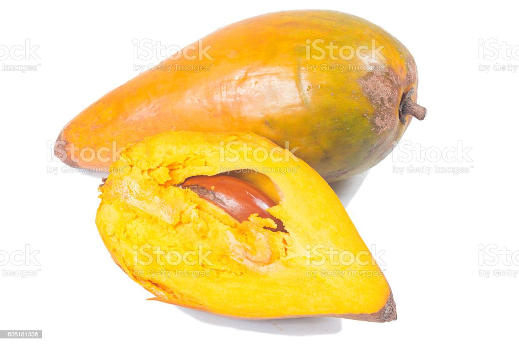 Egg fruit or Canistel stock photo