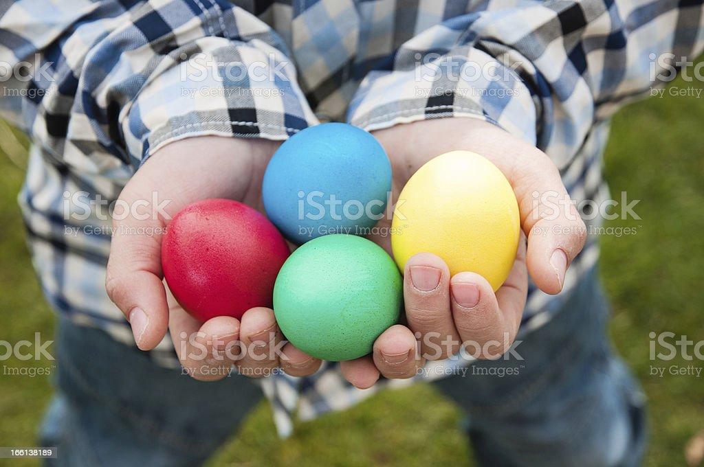 Egg hunt stock photo